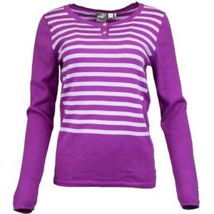 Puma Purple Cactus Scoop Neck Sweater - S - NWT